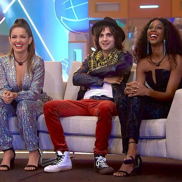 Juliet, Phuoc und Camilla De Lucas im BBB21-Finale (Foto: TV Globo / Disclosure)