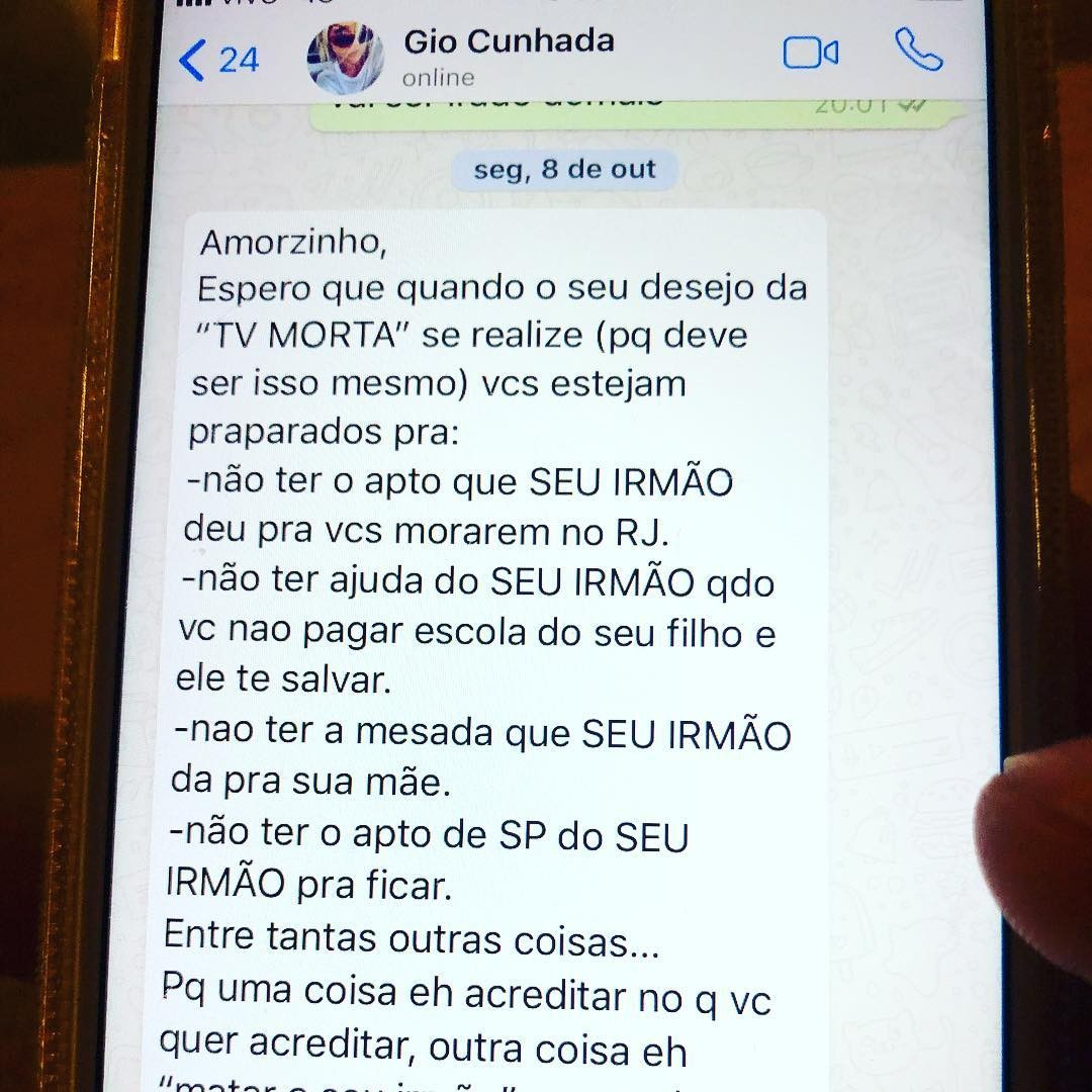 Thiago Gagliasso posta mensagem de cunhada Giovanna Ewbank (Foto: Reprodução/ Instagram)