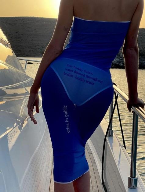 Bruna Marquezine posa em barco na Grécia com vestido transparente  (Foto: Reprodução Instagram)