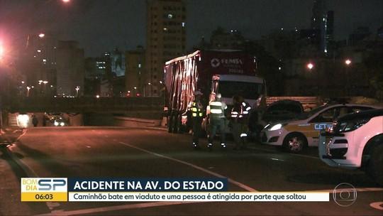 Juíza morre após ser atingida por concreto que caiu de viaduto