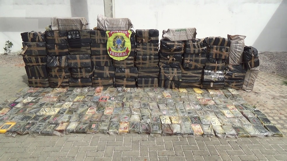 Polícia Federal apreendeu 1.391 quilos de cocaína em Parnamirim, RN — Foto: Polícia Federal/Divulgação