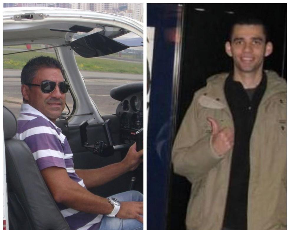 Piloto Celso Bernardo dos Reis e passageiro João Robson da Lima Costa morreram em queda de bimotor em Tietê (SP) — Foto: Reprodução/Facebook