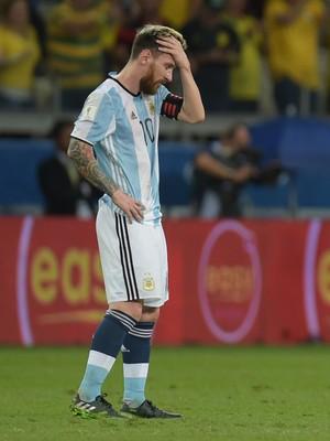Messi Brasil x Argentina (Foto: AFP)