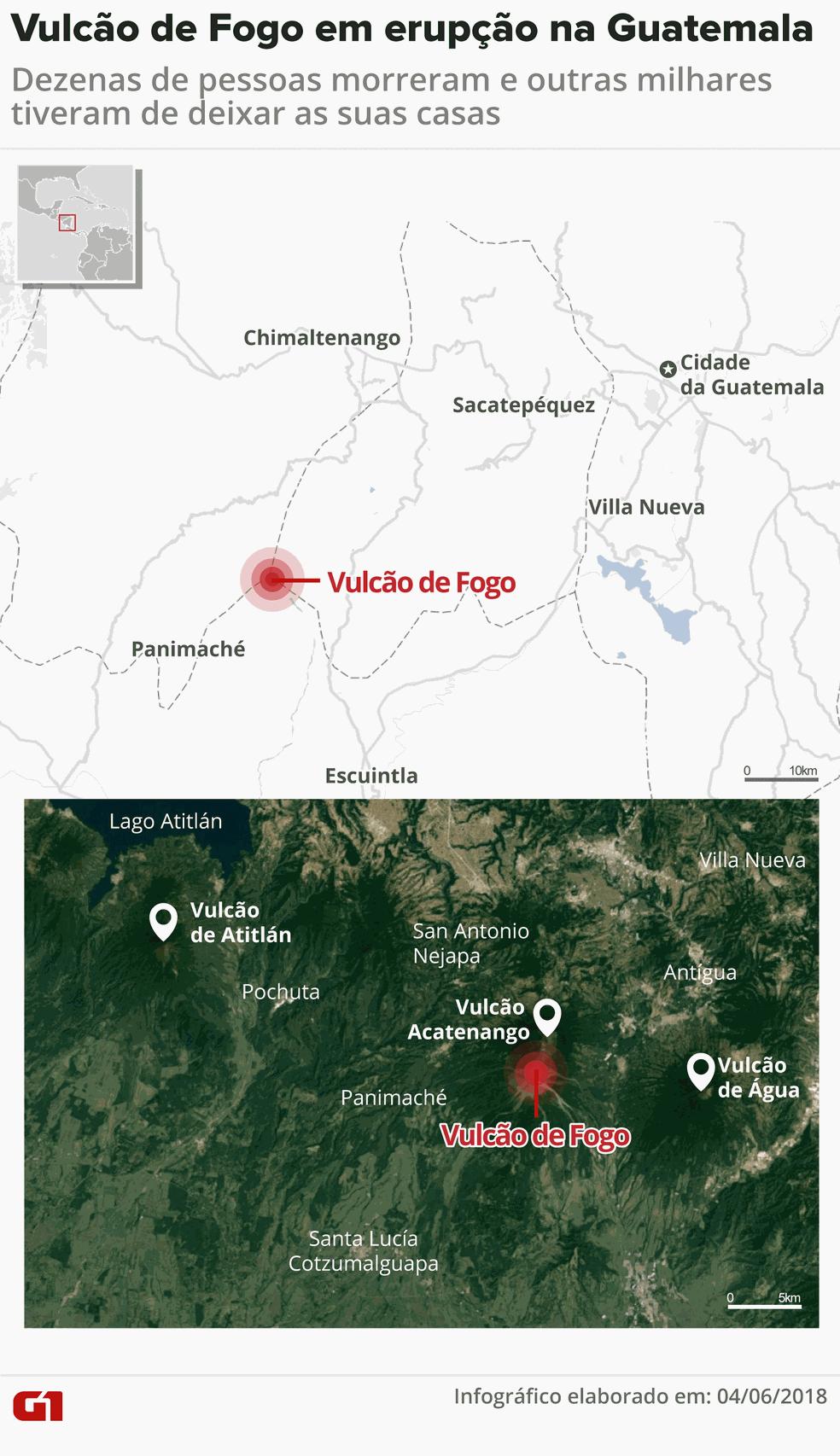 Vulcão de Fogo, Guatemala (Foto: Juliane Monteiro/G1)