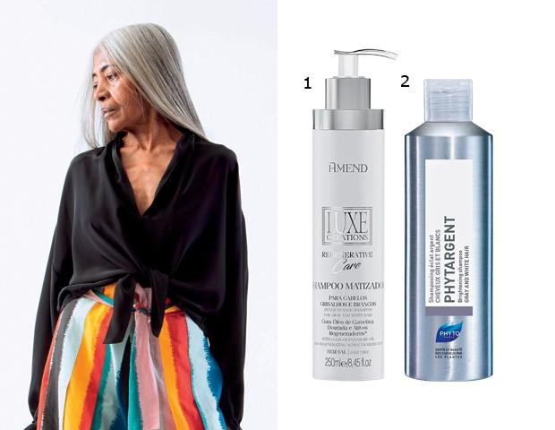 Campanha (linda!) da americana Tome/ 1. Shampoo Matizador Luxe Creations Regenerative Care (R$ 40), Amend/ 2. Shampoo Phytargent (R$ 144), Phyto (Foto: Divulgação)