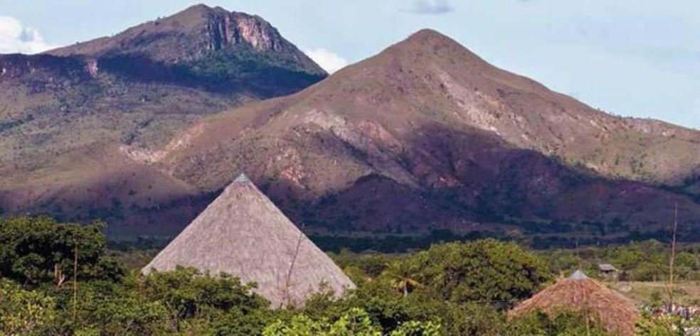 Terra Indígena Raposa Serra do Sol é uma das que ficam na fronteira do Brasil com a Venezuela — Foto: Reprodução/Funai