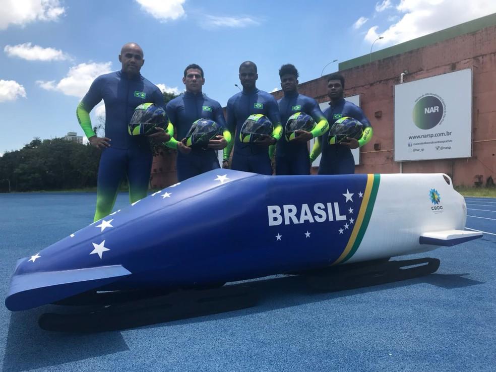 Equipe brasileira de bobsled (Foto: Thierry Gozzer)