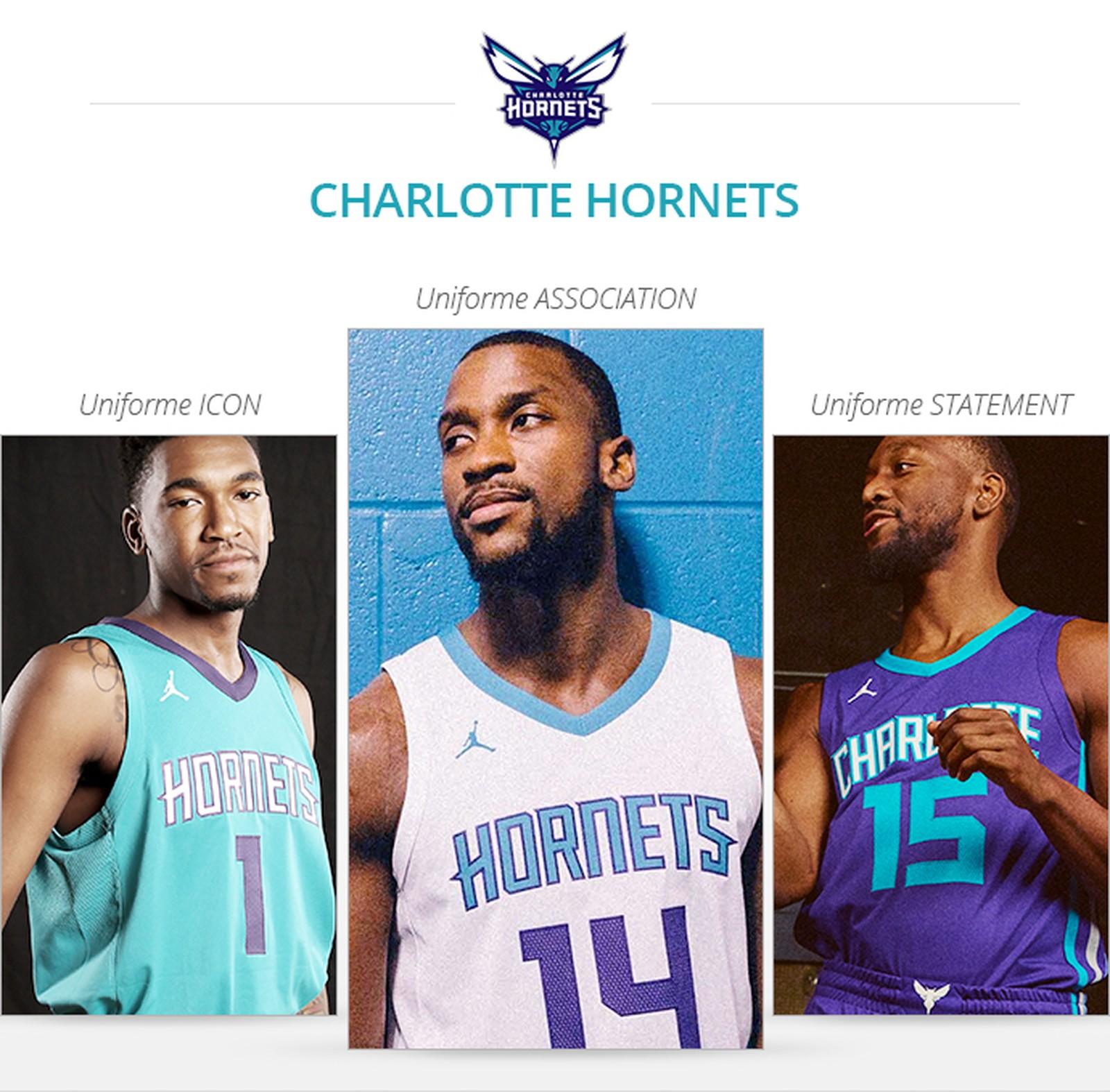 Uniformes Charlotte Hornets 2017/18