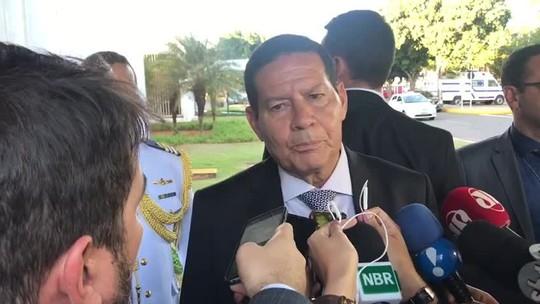 Mourão diz que Brasil não participará de eventual intervenção dos EUA na Venezuela