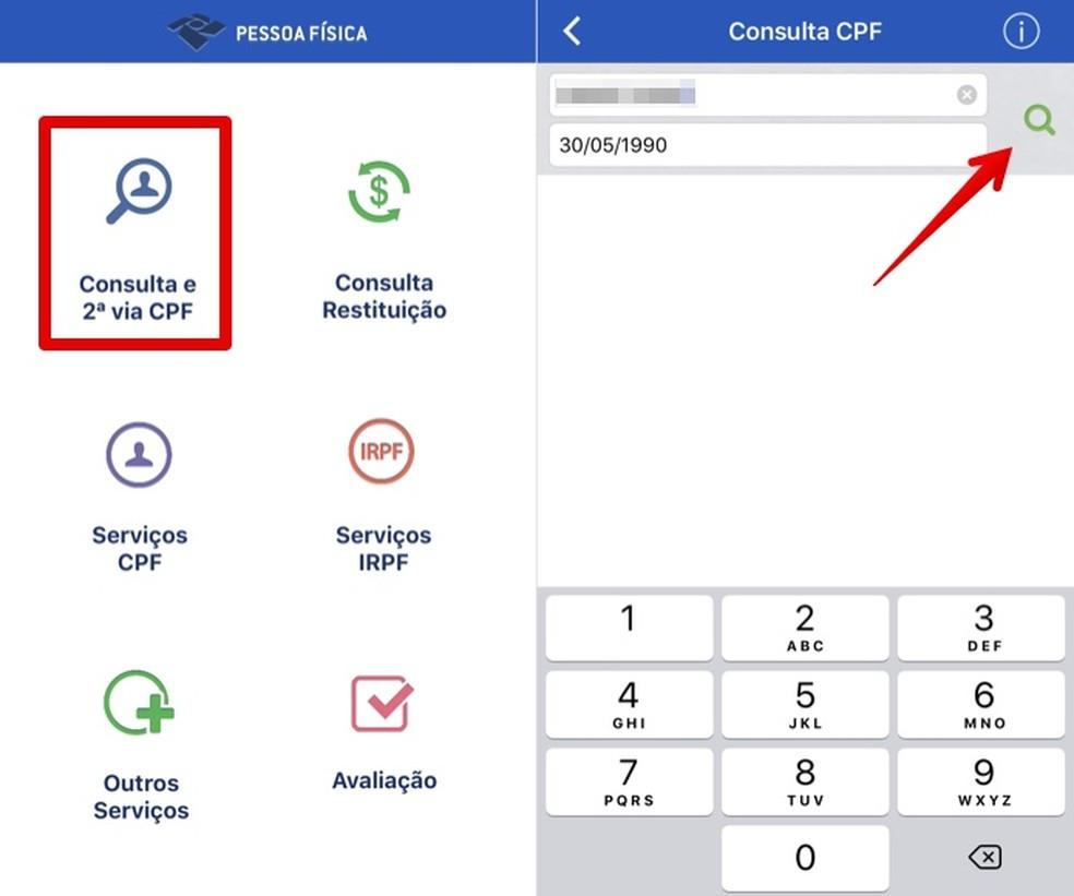 Como consultar CPF pelo celular com o app Pessoa Física | Produtividade |  TechTudo