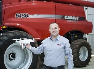 silvio-campos- drone-case-ih-tecnologia (Foto: Alexandre Lombardi  )