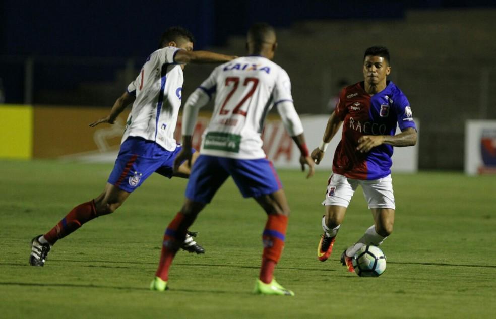 Bahia foi eliminado pelo Paraná na segunda fase da Copa do Brasil (Foto: Antônio More/Gazeta do Povo)