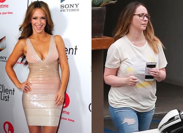 Jennifer Love Hewitt em 2012 e agora (Foto: Getty Images/Backgrid)