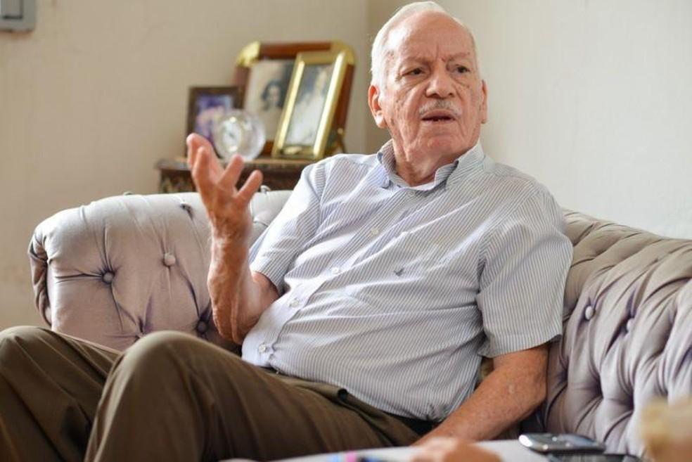 Ex-governador de MT, Frederico Campos, morre com Covid-19 aos 93 anos — Foto: Marcus Mesquita