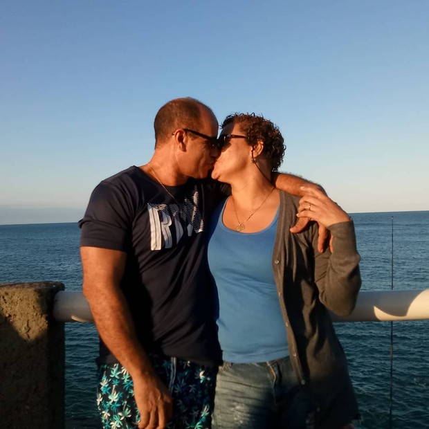 Glaucia Vic e o marido (Foto: Instagram)