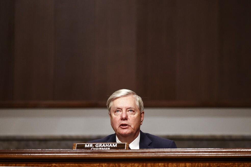 Senador Lindsey Graham em novembro de 2020 — Foto: Hannah McKay/Pool via AP