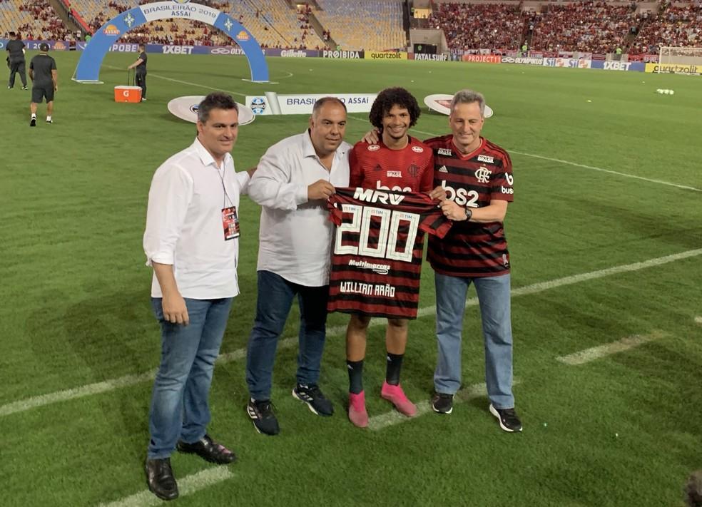 Há três anos e meio no clube, Arão já fez mais de 200 jogos — Foto: Divulgação / Flamengo