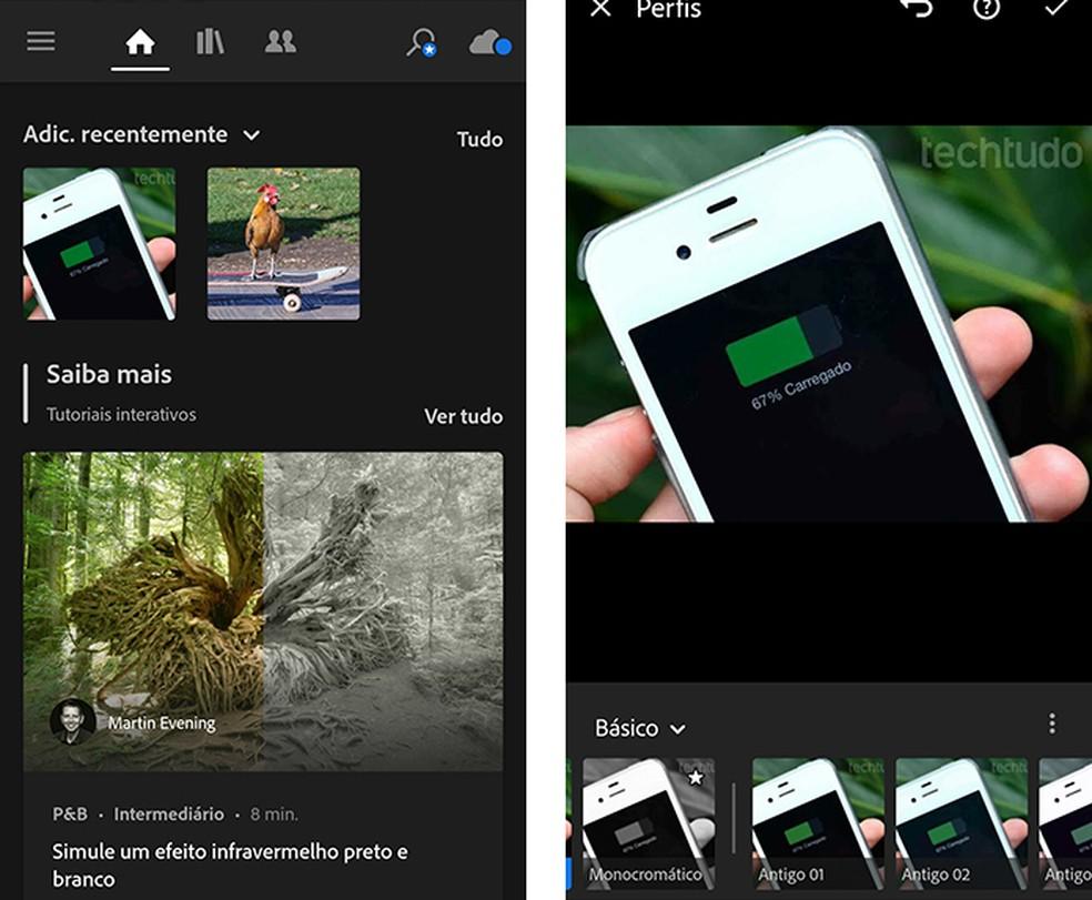 Lightroom: aplicativo de fotos para celulares tem recursos grátis — Foto: Reprodução/Marcela Franco