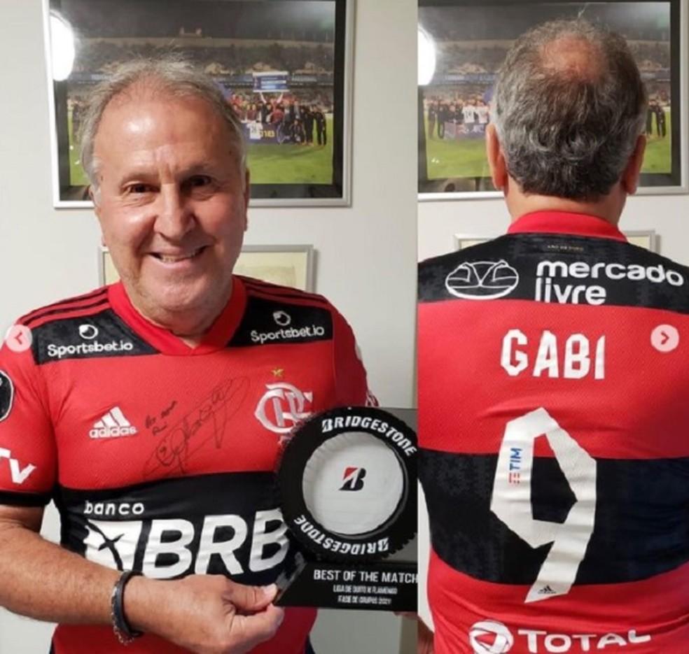 Zico Gabigol Flamengo — Foto: Reprodução