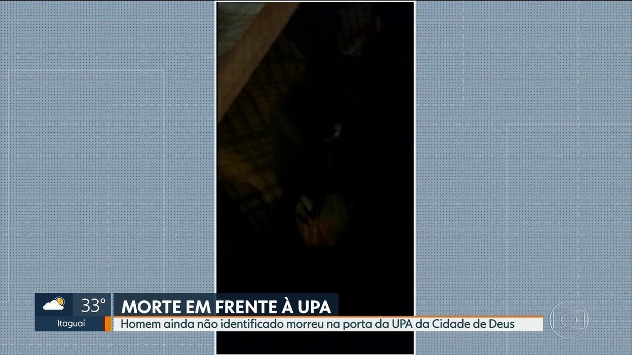 Homem morre em frente à UPA da Cidade de Deus