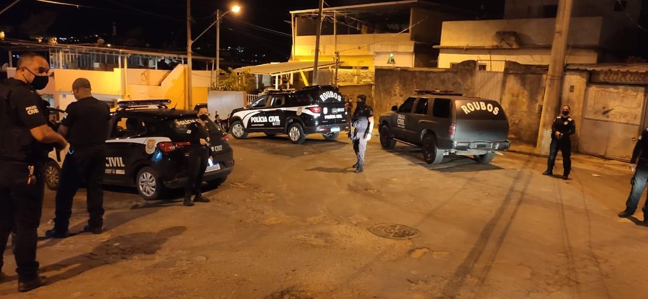 Polícia Civil identifica 18 suspeitos de roubo e furto durante operação em Juiz de Fora