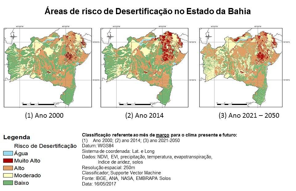 Processo de desertificação da Bahia. (Foto: Divulgação / Unifesp)