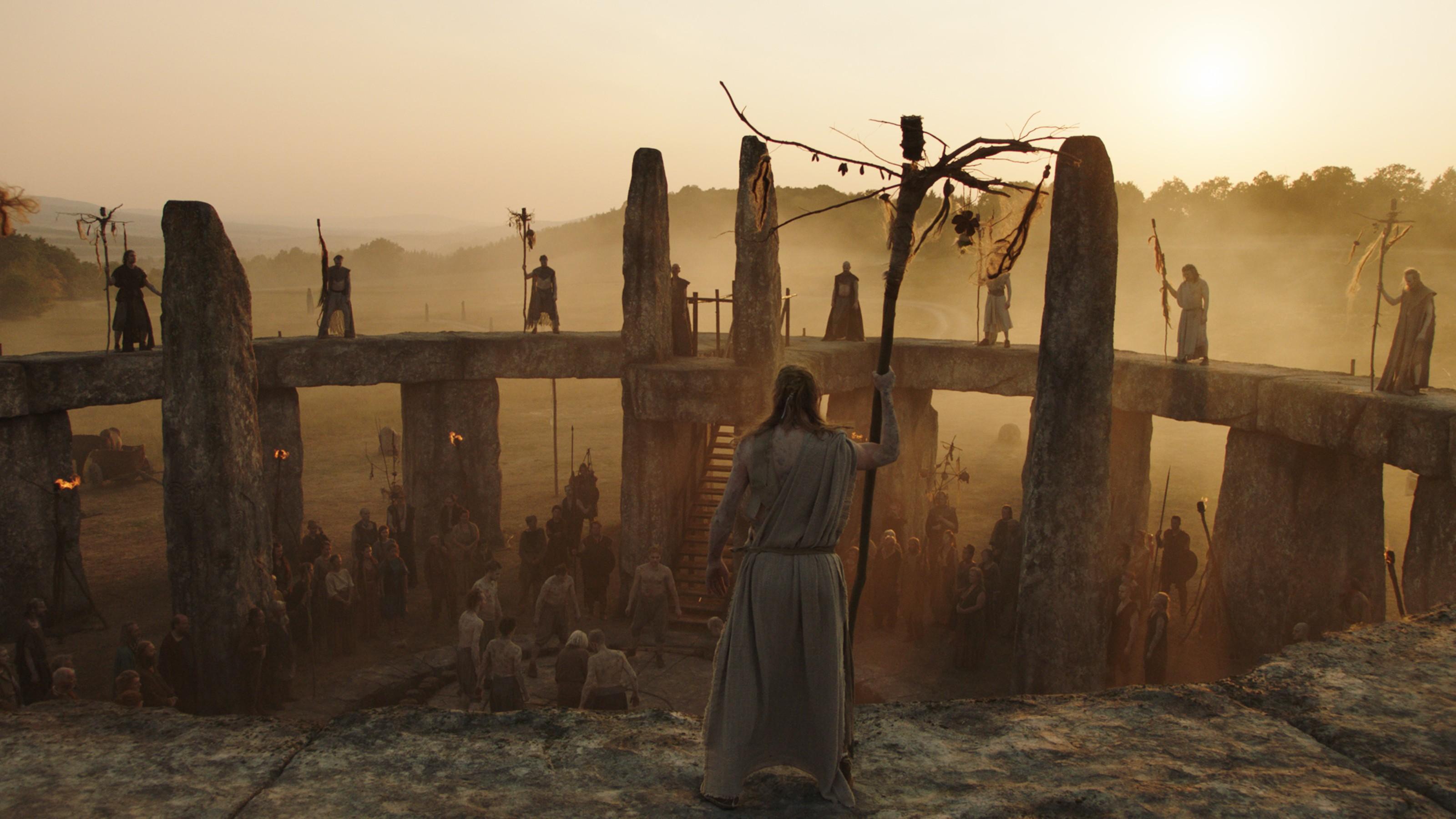 Ritual encenado na série Britannia (Foto: Divulgação)