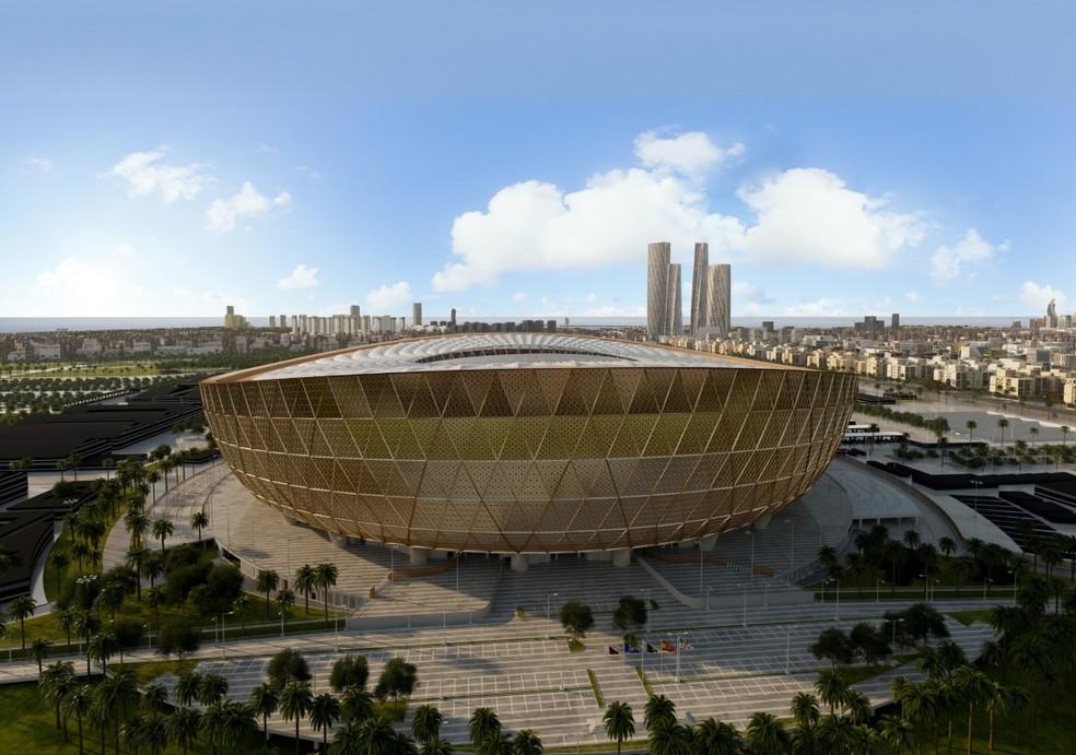 Estádio Lusain, palco do jogo de abertura e da final da Copa do Mundo do Catar 2022 — Foto: Divulgação