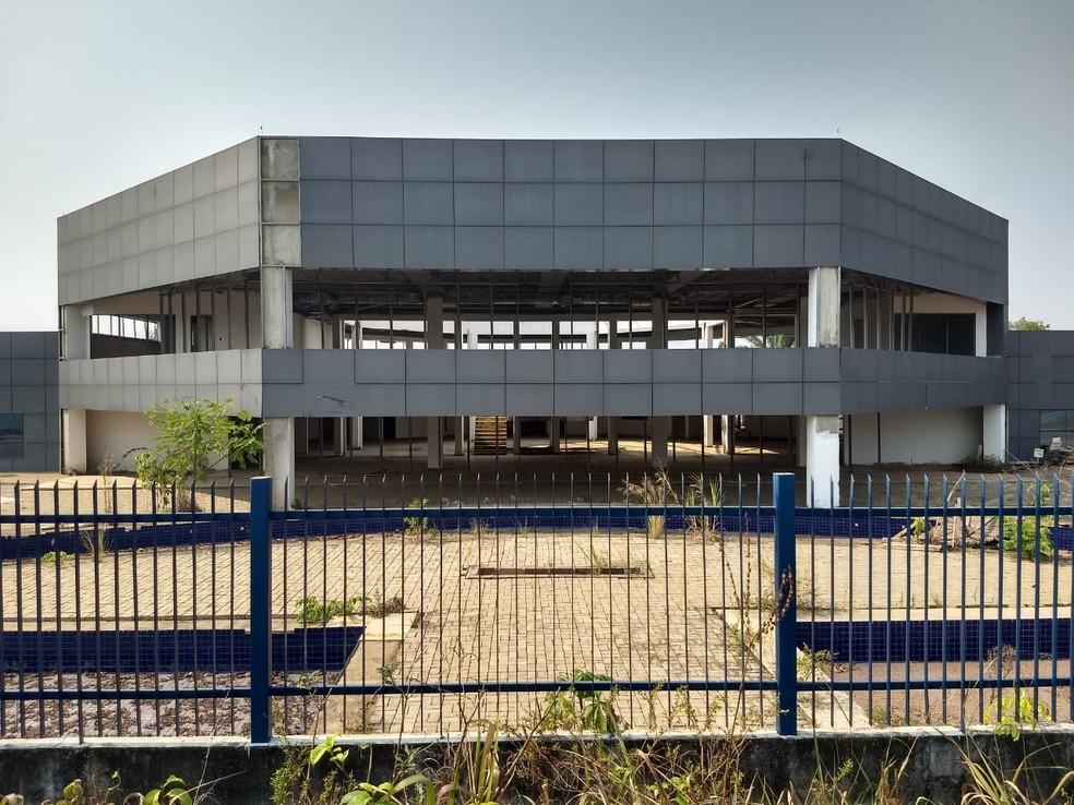 Sede em construção da PRF em Rondônia — Foto: Diêgo Holanda/G1