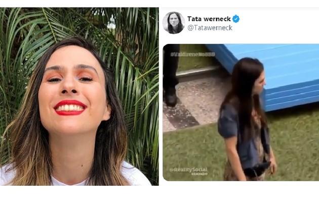 Tatá Werneck publicou o vídeo de Valdirene, sua personagem na novela 'Amor à vida', que não queria deixar o 'BBB' (Foto: Reprodução/Instagram)