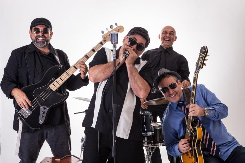A banda De Blues em Quando é atração no The Bar Pub. (Foto: Regis Capibaribe/Divulgação)