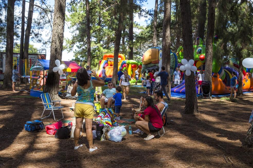 Evento Picnik promove atividades para crianças no Parque da Cidade em Brasília — Foto: Tomás Faquini/Divulgação