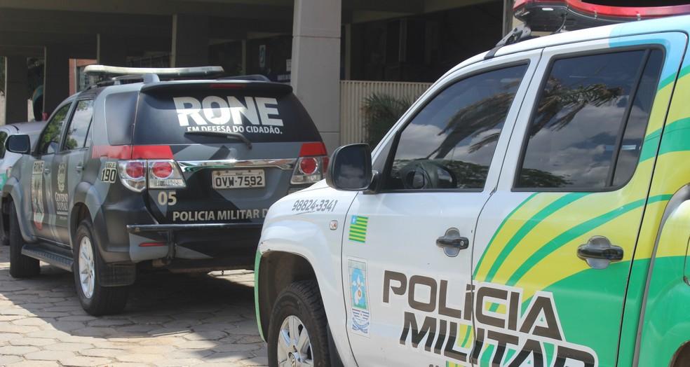 Viatura da Polícia Militar do Piauí — Foto: Andrê Nascimento/ G1 PI