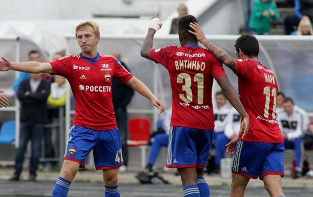 Vitinho cska estreia amistoso gol Znamya Truda (Foto: Reprodução / Site Oficial do CSKA)