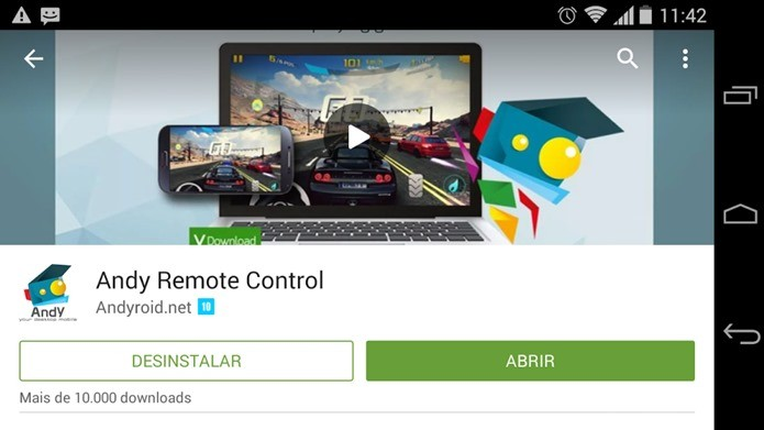 Baixe o programa que vai controlar o emulador Andy (Foto: Reprodução / Dario Coutinho)