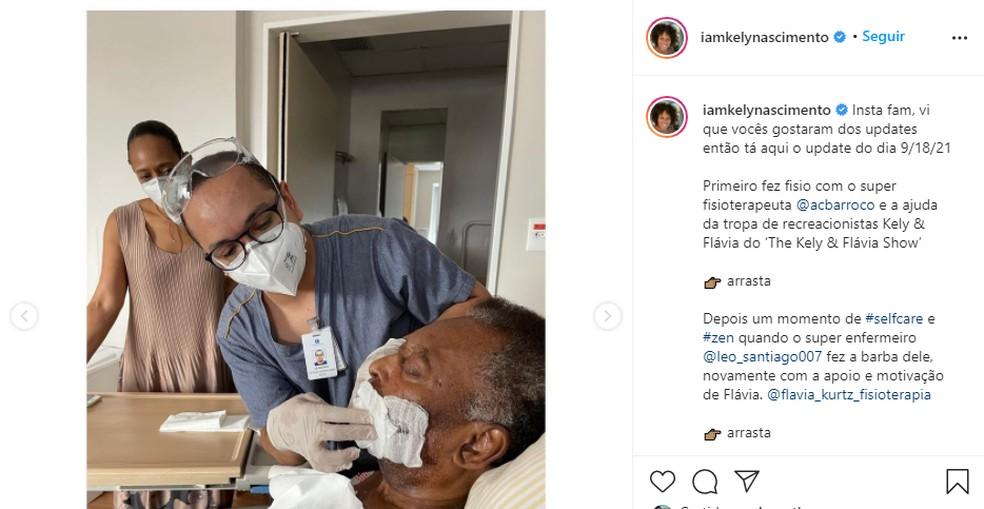 Processo de recuperação de Pelé — Foto: Reprodução