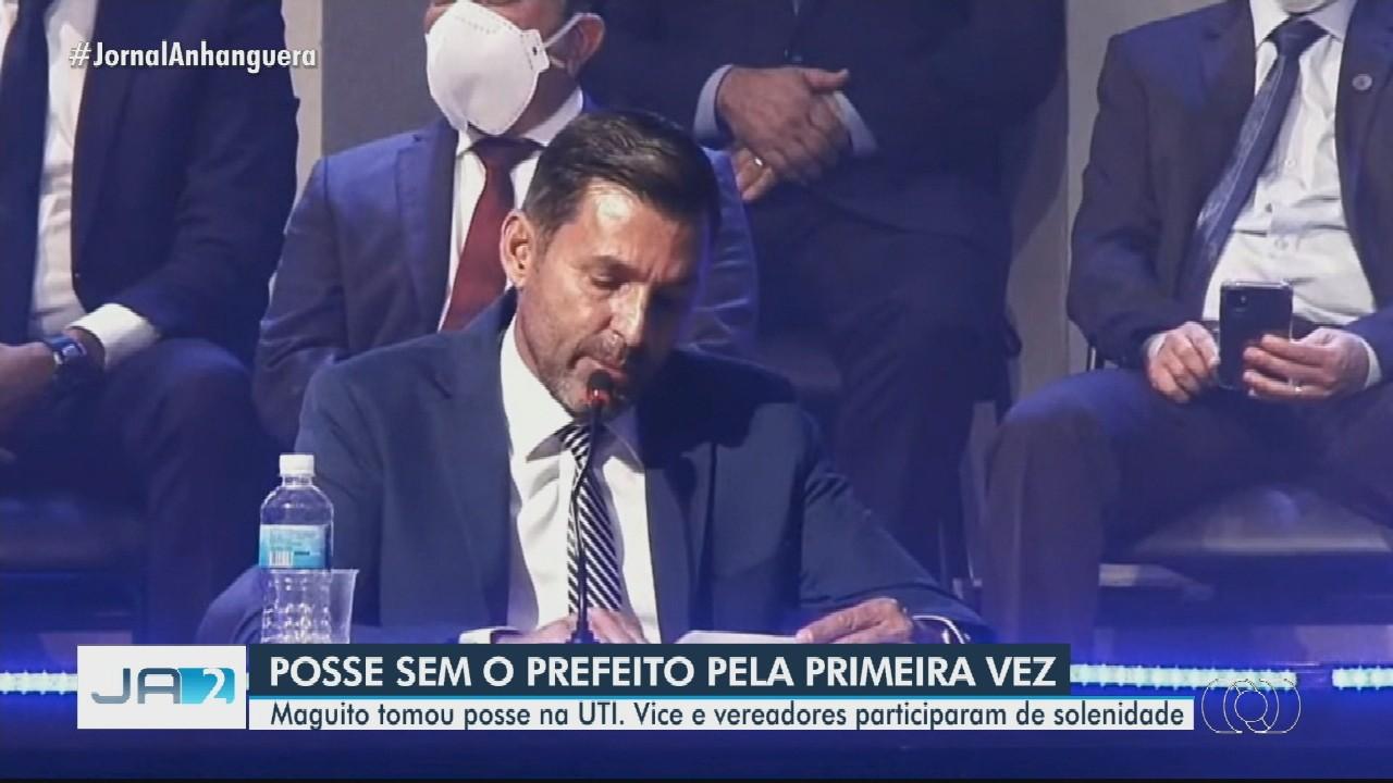 Na UTI, Maguito Vilela toma posse de maneira virtual como prefeito de Goiânia