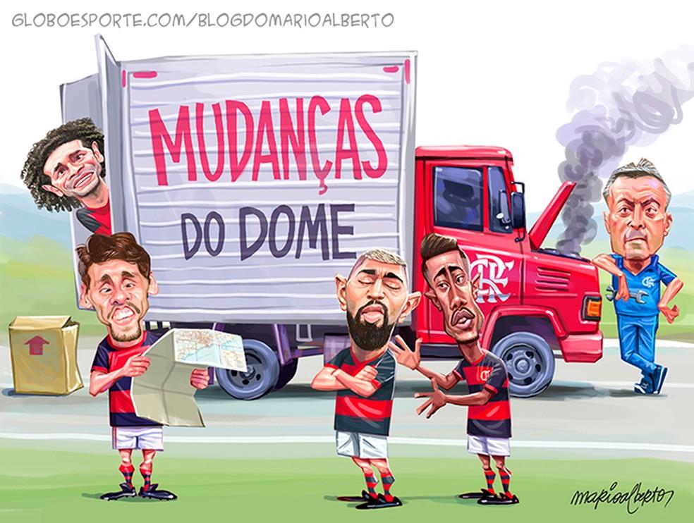 12/8/2020 - 2ª RODADA - Atlético-GO 3x0 Flamengo — Foto: Mario Alberto