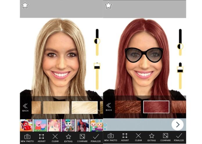 Permalink to Hair Color App