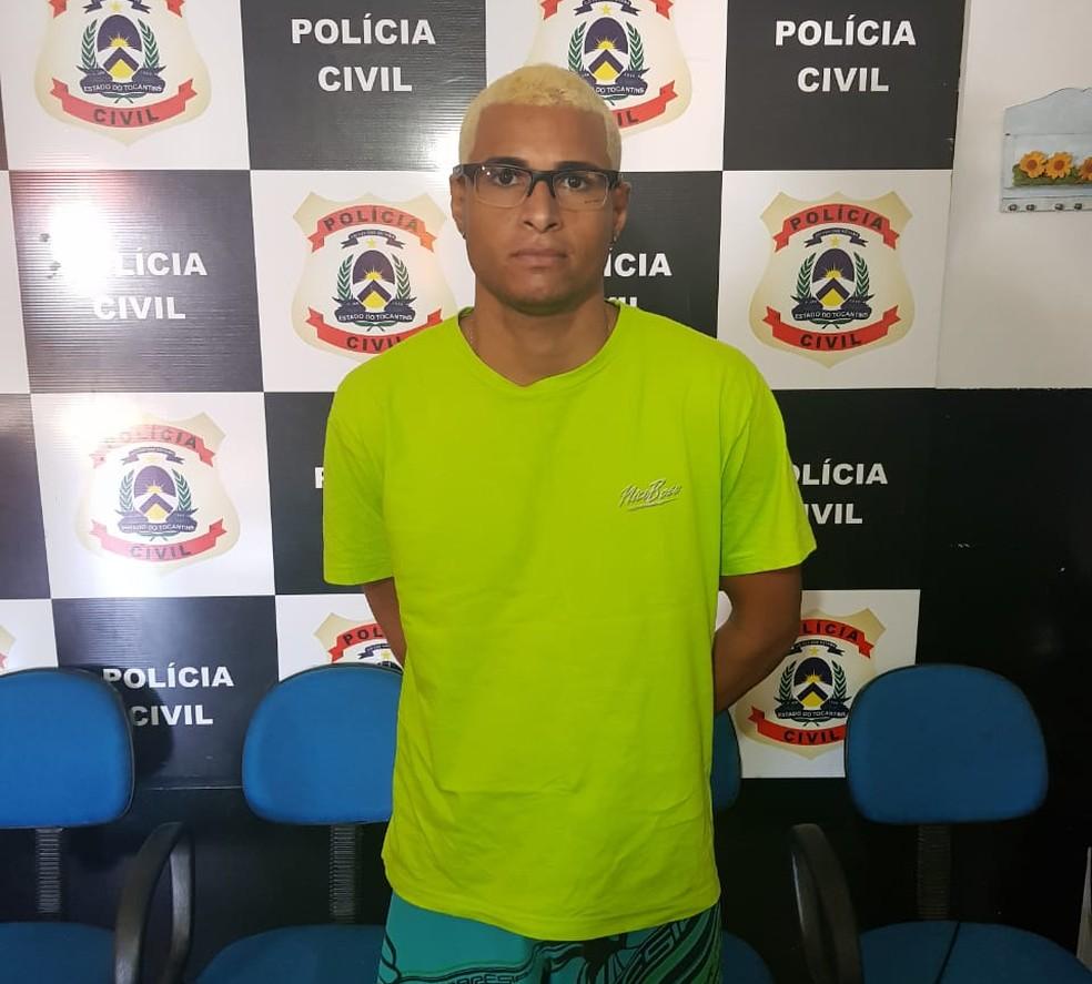 Foragido da Justiça de Minas Gerais foi preso no Tocantins — Foto: Polícia Civil/Divulgação