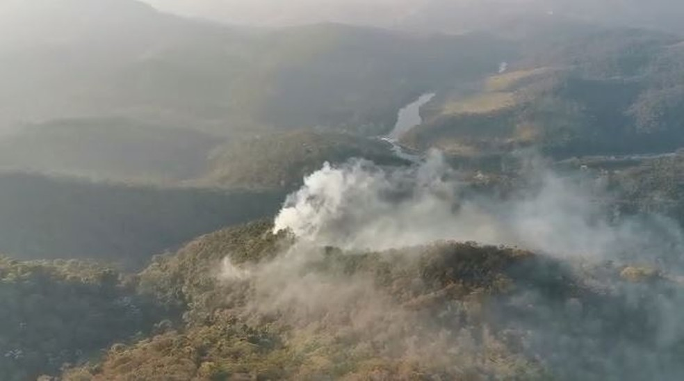Incêndio na Serra do Japi começou em agosto — Foto: Arquivo pessoal
