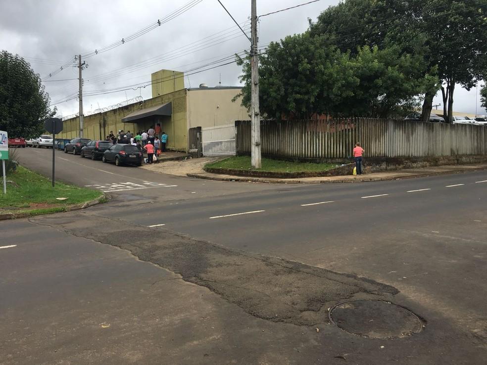 Cadeia Pública de Guarapuava (Foto: Giovan Valiati/RPC)