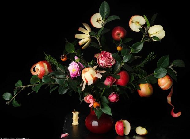 Um buquê de maçãs foi o grande vencedor de 2018. Trabalho do alemão Michael Meisen (Foto: Michael Meisen/Reprodução )