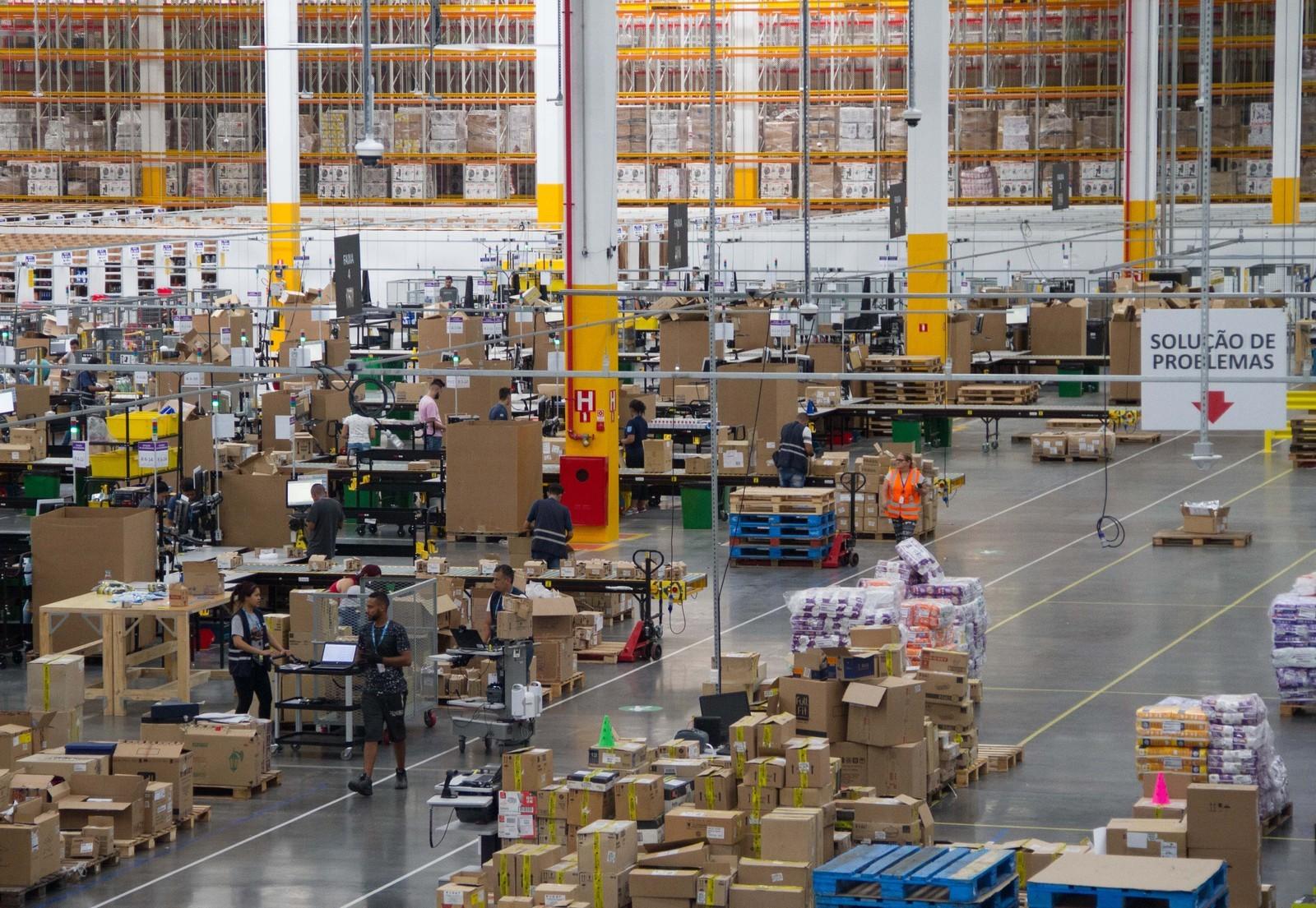 Novo centro de distribuição da Amazon.com.br em Cajamar (SP) (Foto: Divulgação/Amazon)