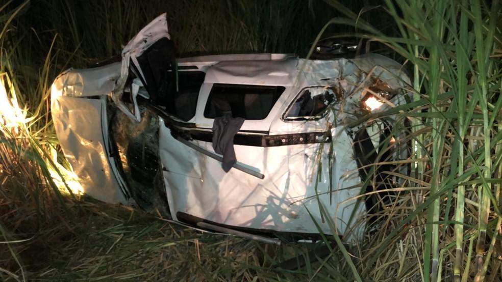 Segundo acidente aconteceu depois de perseguição policial em Ibirá — Foto: Arquivo Pessoal
