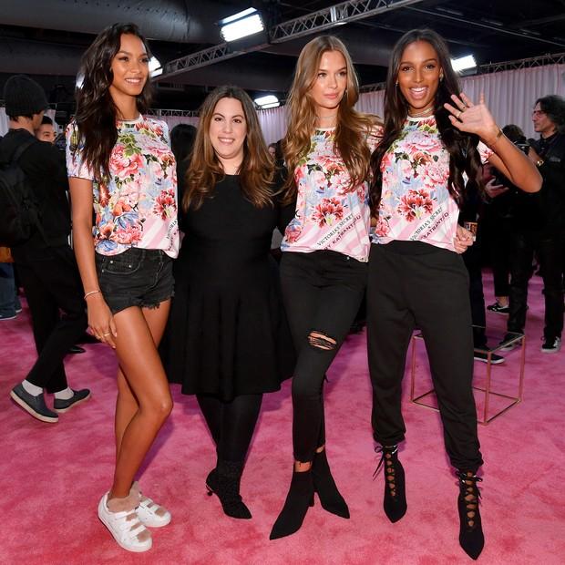Lais Ribeiro, Mary Katrantzou , Josephine Skriver e Jasmine Tookes (Foto: Getty Images)