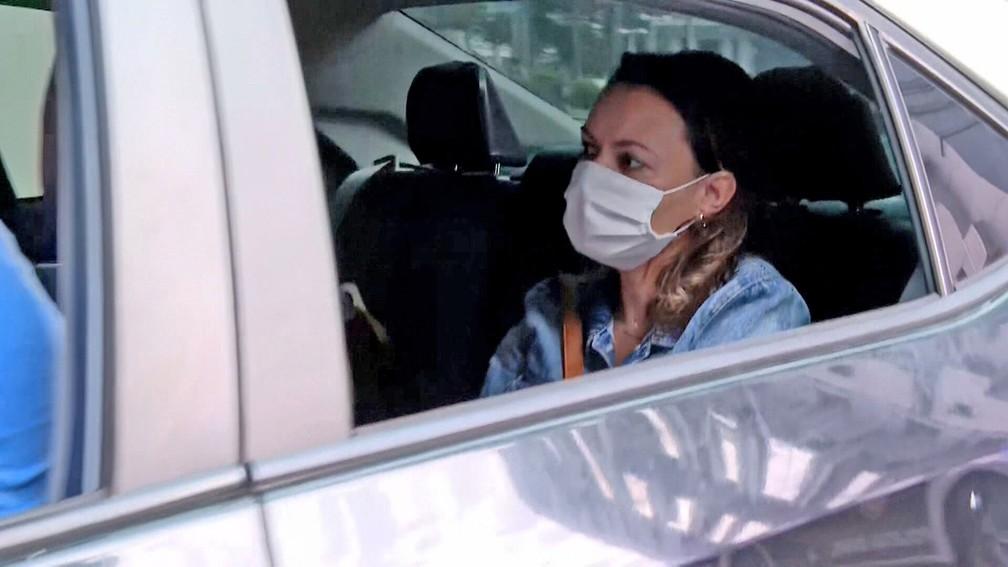 Priscilla é presa no condomínio da qual é síndica — Foto: Reprodução/TV Globo