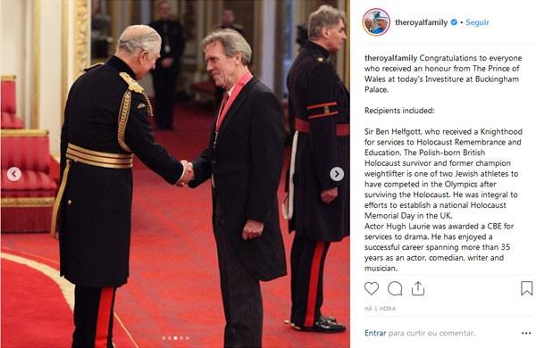 Imagem compartilhada nas redes sociais da Família Real (Foto: Reprodução Instagram)