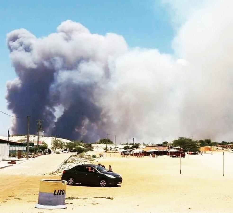 Incêndio começou no Assentamento 25 de Julho (Foto: Wilk Campos)