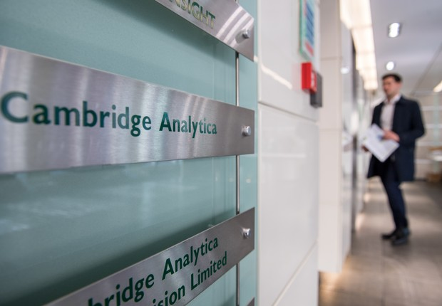 Escritório da Cambridge Analytica em Londres (Foto: Chris J Ratcliffe/Getty Images)